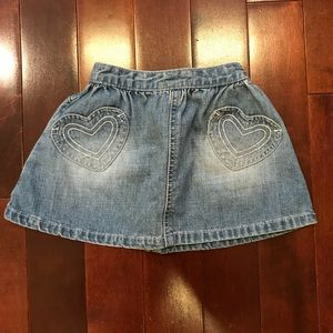 Baby Gap Heart Pocket Denim Jean Skirt 6-12 months